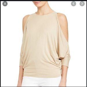 Ralph Lauren Cold Shoulder 3/4 Sleeve Top
